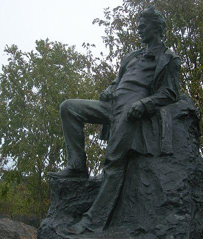 Памятник Стриндбергу работы Карла Эльда в Стокгольме