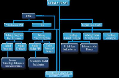 Struktur organisasi Pusdiklat
