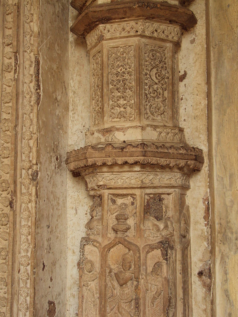 Stucco work on Radhashyam Temple, Bishnupur 2.JPG