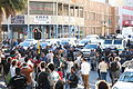 Students being driven up Roeland street to District Six.JPG