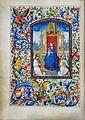 Stundenbuch der Maria von Burgund Wien cod. 1857 Madonna mit Kind und musizierenden Engeln.jpg