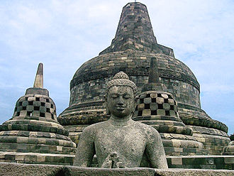 1996 World Monuments Watch - Borobudur, a shrine to the Lord Buddha and a place for Buddhist pilgrimage, is Indonesia's single most visited tourist attraction.