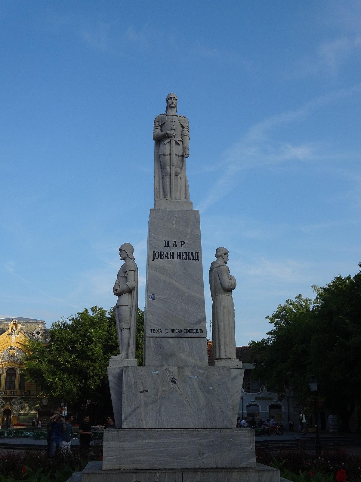 File Subotica Spomenik Caru Jovanu Nenadu 01 Jpg Wikimedia Commons