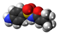 Sulfadicramide molecule spacefill.png