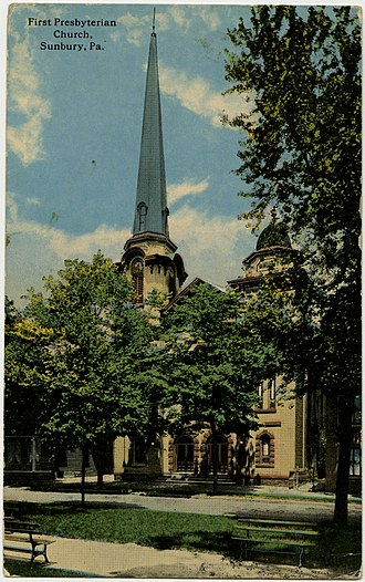 Sunbury Historic District - Image: Sunbury PA 1st Presby PHS587