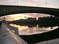 Sunrise Under Kingston Bridge - geograph.org.uk - 272092.jpg