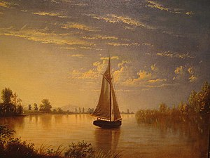 Fortunato Arriola - Sunset on the Sacramento River, 1869, Cantor Art Center, Stanford University