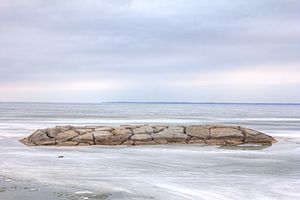Lake Simcoe - Lake Simcoe frozen over, seen from Jackson's Point