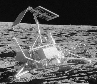 Surveyor 3 - Surveyor 3 on the Moon, photographed by Alan Bean over two years after it landed