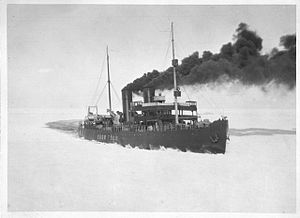 Suur Tõll (icebreaker) - Suur Tõll assisting FÅA's Wellamo between Helsinki and Stettin in 1928.