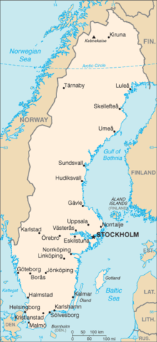 Outline Of Sweden Wikipedia - Sweden map wiki
