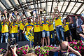 Sweden national under-21 football team celebrates in Kungsträdgården 2015-5.jpg