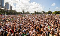 manifestantes cambio climático en Sydney, Australia