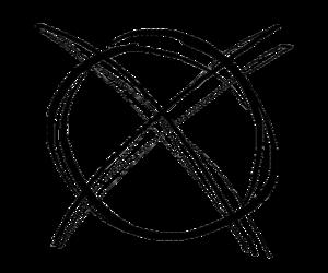 "Slender Man - The ""Slender Man symbol"" introduced by Marble Hornets"