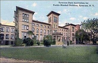 Syracuse State School - Syracuse Idiot Asylum on Wilbur Avenue in Syracuse, New York in 1910 Main Building