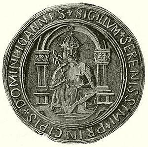 John Zápolya - Royal stamp of Zápolya