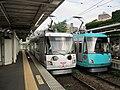 Tōkyū 308 & 310 at Nishi-taishidō Station.jpg