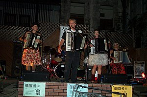 Those Darn Accordions - A recent photo of Those Darn Accordions performing in Champaign, Illinois.