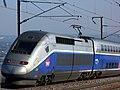 TGV Duplex 274 (LGV Méditerranée, Bouches-du-Rhône, France).jpg