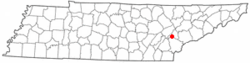 Location of Philadelphia, Tennessee