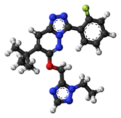 Ball-and-stick model of the TPA-023 molecule