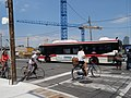 TTC bus on Queen's Quay, at Lower Jarvis, 2016 07 05 (4).JPG - panoramio.jpg