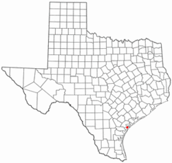 Location of Fulton, Texas