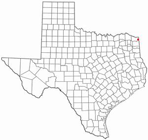 Nash, Texas - Image: TX Map doton Nash