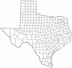 Location of San Perlita, Texas