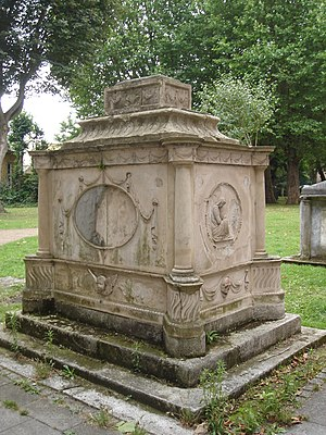 Robert Wood (antiquarian) - Tomb of Robert Wood, Putney Old Burial Ground