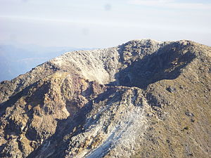 Volcán Tajumulco - South side from a helicopter