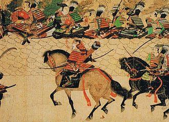 Japanese armour - Takezaki Suenaga from the Mōko Shūrai Ekotoba scroll, composed in 1293.