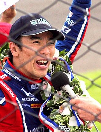 2017 IndyCar Series - Takuma Sato after winning the Indianapolis 500 race event on May 28, 2017 - Indianapolis Indiana USA