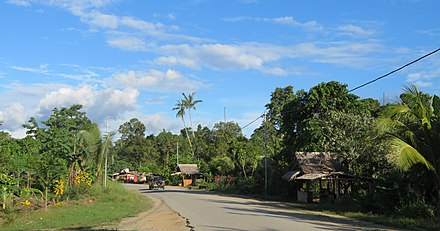 One of the most important roads on the North coast of Guadalcanal in Tamboko