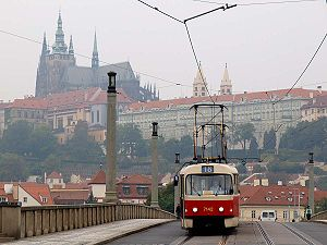 Tatra T3 and Prague castle.jpg