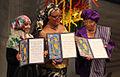 Tawakkul Karman Leymah Gbowee Ellen Johnson Sirleaf Nobel Peace Prize 2011 Harry Wad.jpg