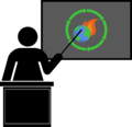 Teaching climate change adaptation (blackboard) icon.png