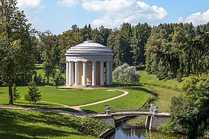 "Pavlovsk Park - The ""Temple of Friendship"" in Pavlovsk Park (1780)"