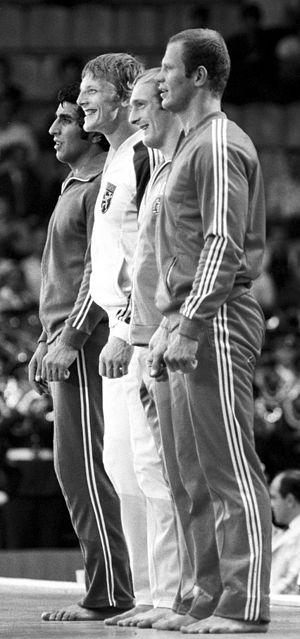 Robert Van de Walle - Van de Walle (2nd left) at the 1980 Olympics