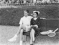 Tenniswedstrijd Frankrijk-Engeland op Roland Garros, Bunny Austin (Brits tenniss, Bestanddeelnr 190-0751.jpg
