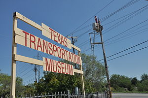 Texas Transportation Museum - Image: Texas Transportation museum sign