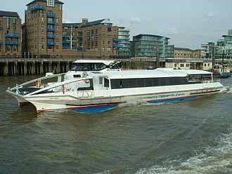 Thames Clippers - Sun Clipper heading upstream just east of Tower Bridge