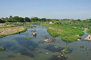 Thamirabarani River - Thamirabarani River flowing across Tirunelveli