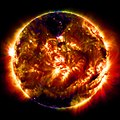 The 100 millionth image of the sun, captured by an instrument on Solar Dynamics Observatory (SDO), NASA, U.S.A.jpg