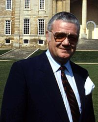 The 12th Duke of Manchester at Kimbolton Castle Allan Warren cropped.jpg