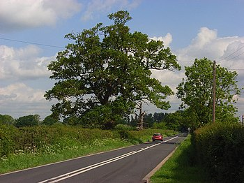 English: The A321, Hurst The Wokingham to Twyf...