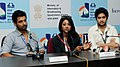 """The Actor, Indraneil Sengupta, Actress, Pauli Dam and Actor, Vikram Chatterjee of the film """"Elar Char Adhyay"""" at the Press Meet, during the 43rd International Film Festival of India (IFFI-2012), in Panaji, Goa.jpg"""