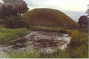Scottish castles - The Bass of Inverurie in Scotland, a large motte and bailey castle built in the mid-twelfth century