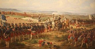 "Gardes Françaises - The Gardes Francaises and the British Guards confronted each other at Fontenoy in 1745. Lord Charles Hay, a British officer, reportedly said, ""Tell your men to fire"". The Count d'Auteroche, officer of the Gardes françaises, replied, ""No, we never fire first""."