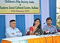 The Chairperson, Children's Film Society of India (CFSI), Ms. Nandita Das addressing a press conference on the occasion of a day long Children's Film Festival on Tagore.jpg